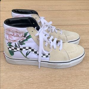 Vans Sk8hi Checker Floral Turtle Shoes